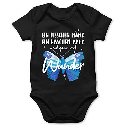 Shirtracer Strampler Motive - Ganz viel Wunder - weiß - 12/18 Monate - Schwarz - Kurzarm - BZ10 - Baby Body Kurzarm für Jungen und Mädchen