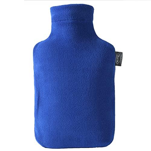 Wärmflasche 2l, mit superweichem Wollbezug, Warm- und Kaltkompresse 2-in-1-Wasserbeutel, hält warm und lindert Schmerzen. (Color : Blue)