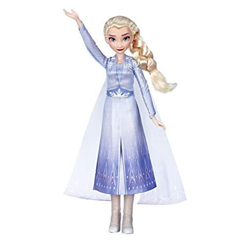 Hasbro E6852GC0 Disney Die Eiskönigin Singende Elsa Puppe mit Musik in blauem Kleid zu Disneys Die Eiskönigin 2, Spielzeug für Kinder ab 3 Jahren