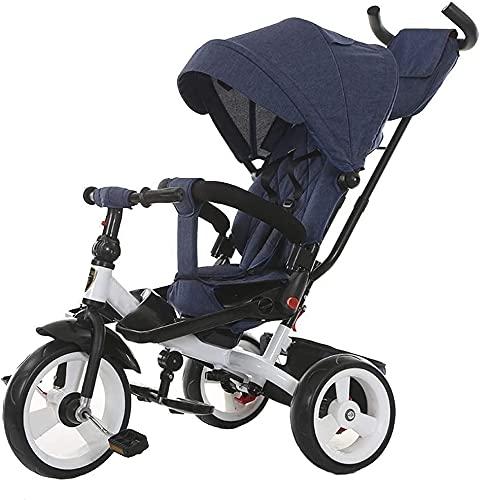 Chilechuan Dreirad, Baby-Regenschirm-Kinderwagen Jogger-Stil, höhenverstellbarer Druckgriff, für Kleinkindmädchen und Jungen