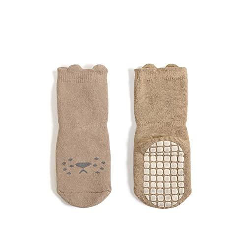 Dinnesis Babysocken Jungen und Mädchen Baby-Bodensocken Verdickte warme Wollring-rutschfeste Indoor-Walking-Socken Winter Kälteschutz Beiläufig Socke