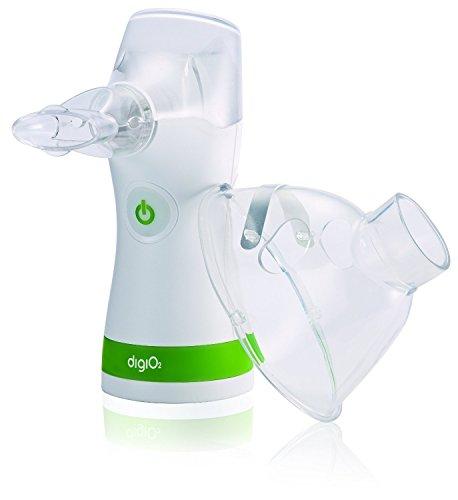 DigiO2 NBR101 Tragbarer Inhalator Vernebler mit Mundstück und Maske für Kinder und Erwachsene Inhalations-Gerät