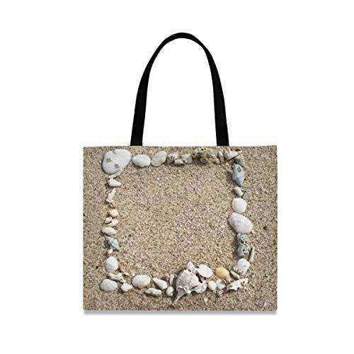 XiangHeFu Lässige Mode Handtasche Strand Sand Muschel Große Kapazität Einkaufstasche Wiederverwendbar im Freien