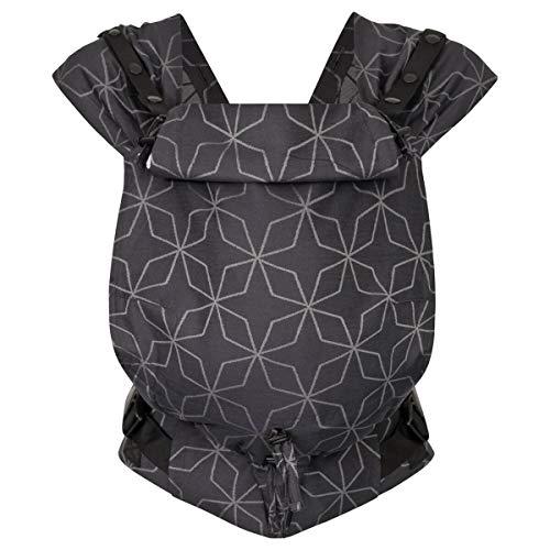 Hoppediz Primeo Full-Buckle Babytrage ✓ ab Geburt ✓ Bauchtrage ✓ Rückentrage ✓ verstellbarer Steg ✓ 100% Bio-Baumwolle | Design Malmö