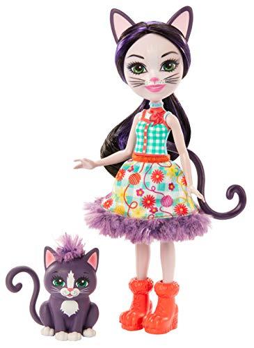 Enchantimals GJX40 - Ciesta Cat Puppe und Tierfreund Figur Climber, Spielzeug ab 4 Jahren