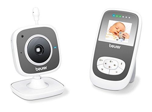Beurer BY 77 Video-Babyphone, mit Infrarot-Nachtsichtfunktion, 300 Meter Reichweite, strahlungsarme und energieeffiziente Übertragung