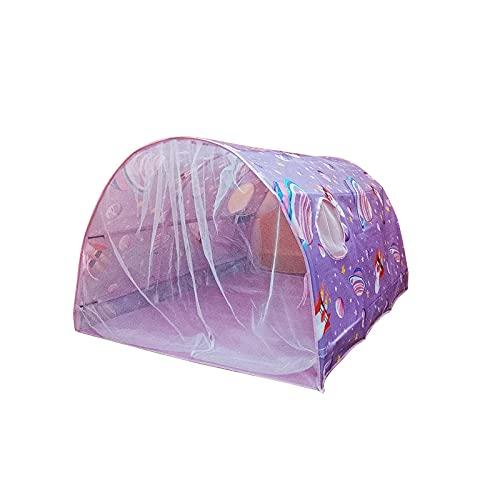 Tents Spielzelte, Kinderbettraum Traumzelt, Bettzelt, Kinder Galaxie Sternenhimmel Spielhaus Zelt, Zelt Mit Doppeltem Netzvorhang, Traumzelt Kid's Fantasy Schlafzimmer Dekor Kinder Weltraumabenteuer
