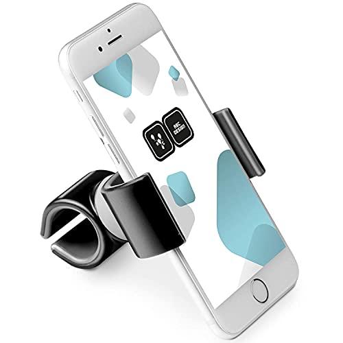 ABC Design Universal Handyhalterung – Handyhalter für Kinderwagen, Fahrrad, Einkaufswagen uvm. – Für Handys mit einer Breite von 50-90mm – Farbe: White-Black
