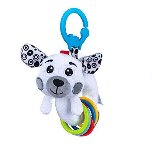 Balibazoo 80181 Rattle Dog, Rassel Spielzeug für Babys, sensorisches Spielzeug, sicheres Plüschtier, Babyfreund, sicheres Spielzeug Ab 0+ Monate
