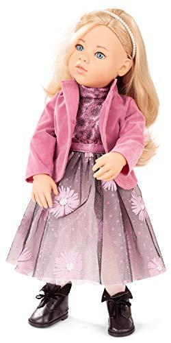 Götz 2066665 Happy Kidz Sophia Puppe - 50 cm große Multigelenk-Stehpuppe mit blonden Haaren und blauen Augen - 7-teiliges Set