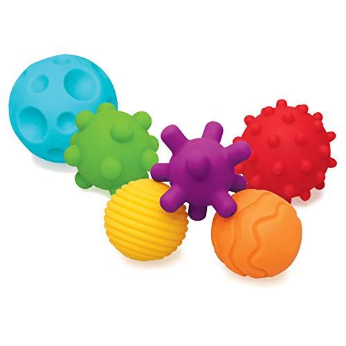 Infantino Textured Multi Ball Set – Texturierte Bälle im Set für die sensorische Entwicklung – Für Kinder ab 6 Monaten