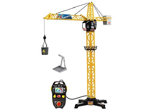 Dickie Toys 201139013 Giant Crane, elektrischer Spielzeug Kran, ferngesteuert, für Kinder ab 3 Jahren, 100 cm hoch, mit Lasthaken, Seilwinde, Eimer und Schaufel