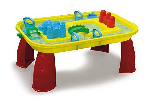 JAMARA 460344 - Sand-und Wasserspieltisch Castle-mit Wasser befüllbar, einfache Montage, Mehrfarbig, manuelles Schaufelrad, fördert die Kreativität, mehrfarbig