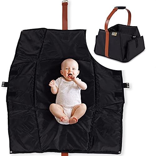MAMA MIRA! 3 in 1 Krabbeldecke, Babytasche und Spielzeugaufbewahrung - Indoor und Outdoor Groß | Spielmatte | schadstofffrei | wasserabweisend