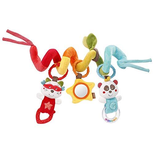 Fehn 067286 Activity-Spirale Jungle Heroes – Stoff-Spirale zum Greifen und Fühlen – Für Babys und Kleinkinder ab 0+ Monaten – Maße: 30 cm