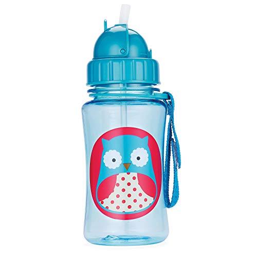 Skip Hop Zoo Trinkflasche für Kinder Trinklernflasche, Eule Otis, mehrfarbig