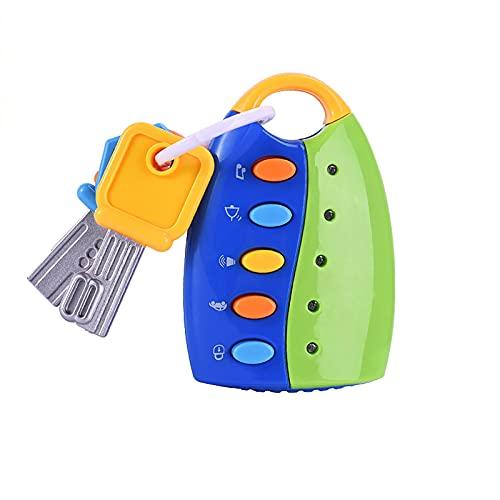 HENGSEN Baby Schlüsselanhänger,Musik Autoschlüssel Spielzeug Bunt Spielzeugschlüssel Kinderspielzeug Kinder Blau Hochwertiges Autoschlüsselspielzeug Simulation,Grün