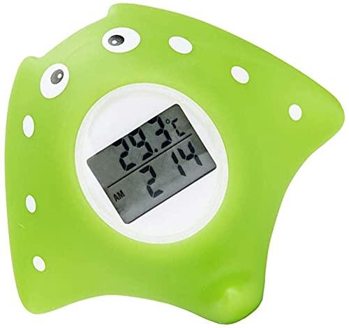 GXT Baby Badethermometer, Badewassertemperatur-Thermometer, digitale Zeitschaltuhr und Raumthermometer, schwimmendes Badespielzeug, bequem und schnell