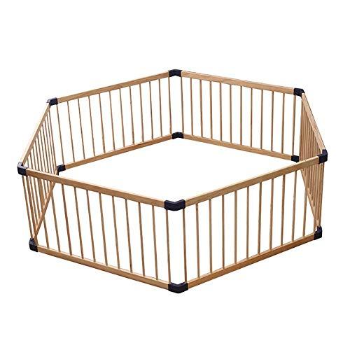 kaige Holzlaufstall, Indoor und Outdoor Activity Center for Zuhause, Hexagonal Zaun Baby, Holz, 80 cm WKY (Size : 80 cm)