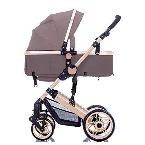LUQ Leichte Kinderwagen mit Griff Kinderwagen Netze mit Getränkehalter Multi-Position Kippsitz,einhändiger Klappwagen Kinderwagen Kinderbuggy (Color : D)