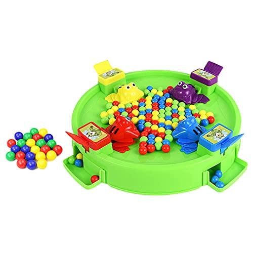 Crazyfly Hungry Frogs Familien-Brettspiel, 4 Spieler Frosch Spielzeug Essen Bohnen Desktop Spiele für Kinder ab 3 Jahren