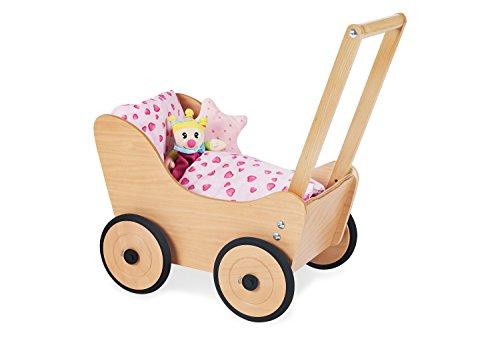 Pinolino Holz-Puppenwagen mit gummierten Rädern