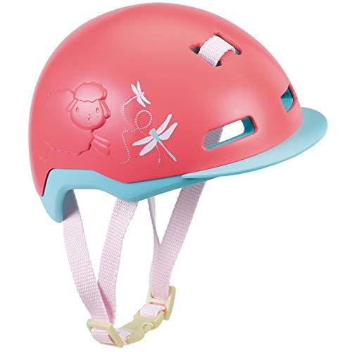 Baby Annabell 703359 Active Fahrradhelm für 43cm Puppe - Schutz für die Puppe - Einfach für Kleine Hände, Kreatives Spiel fördert Empathie & Soziale Fähigkeiten, für Kleinkinder ab 3 Jahren