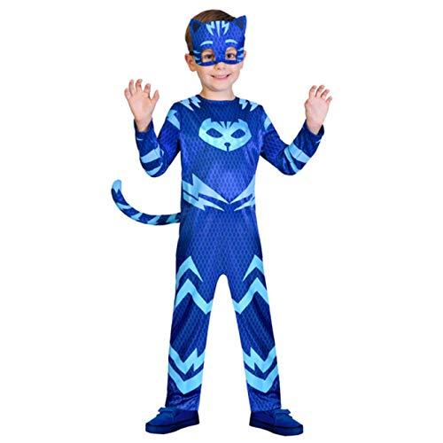 Amscan 9902952 - Kinderkostüm PJ Masks Catboy, Jumpsuit und Maske, Pyjamahelden