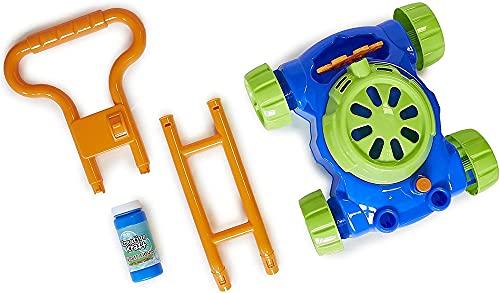RFVB Outdoor-Spielzeug für 2 Jahre alte Kinder, Bubble Maschine Spielzeug für Jungen Mädchen, Bubble Rasenmäher mit Blase-Lösung, Blasengebläse für Kinder Kleinkinder