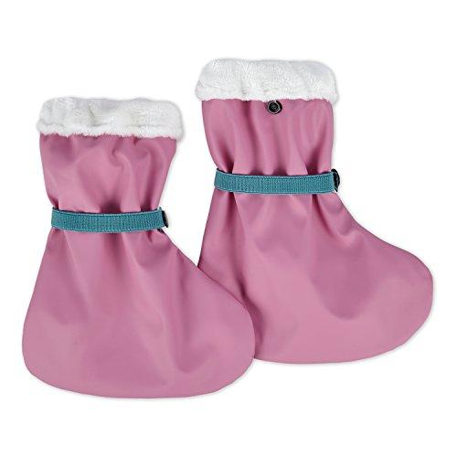 lovely lemon Regenfüßlinge, gefüttert - wasserdichte Outdoor Matsch-Schuhe für Babys & Kleinkinder - One Size, Rosa
