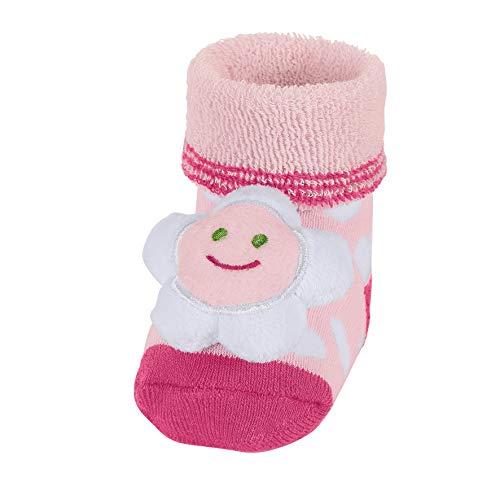 Sterntaler Mädchen Socken Baby-Rasselsöckchen Blume, Rosa (Rosa 702), Gr./S. 15-16