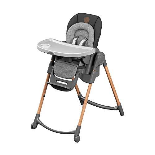 Maxi-Cosi Minla Hochstuhl, höhenverstellbarer Kinderstuhl, nutzbar ab der Geburt bis ca. 6 Jahre (max. 30kg), verstellbarer Rückenlehne & Liegefunktion, Essential Graphite (grau)