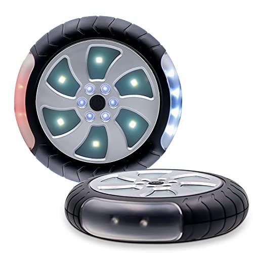 Kinderwagen Licht - Reflektoren für Kinderwagen mit 2 Leuchteffekte, 18 LED Pro Licht, Buggy Wasserdicht Blinklicht mit Klettverschluss und Akku, Kinderwagen Zubehör (2 Stück)