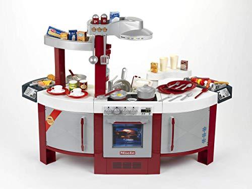 Theo Klein 9125 Miele Küche No. 1 I Beidseitig bespielbare Kinder-Küche I Kochplatte mit Sound und zahlreichem Zubehör I Maße: 137 cm x 55 cm x 95 cm I Spielzeug für Kinder ab 3 Jahren