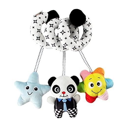 YIPUTONG Baby Spielzeug Anhänger Spirale mit Plüschtieren, Hängendes Babybett Mobile Spielzeug Windspiele für Kinderwagen Babybett Hanging Spielzeug für Neugeborene Baby Jungen Mädchen