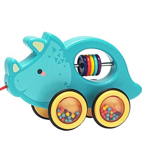 sharprepublic Cartoon Animal Walk-A-Long Kunststoff Nachziehspielzeug Ziehen Frühes Lernen Motorik Walker Spielzeug für Kleinkind Geschenk - Farbe