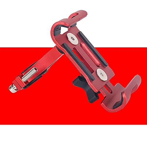 ASDASDASD HalterungMotorrad Fahrrad Handyhalter Aluminiumlegierung Anti-Rutsch Halterung GPS Clip Universal Fahrrad Handyständer für alle Smartphones Rot
