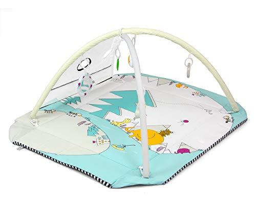 Milly Mally LOLLY Elephant 5-in-1 Lernmatte für Babys, ungiftige Bodenmatte zum Spielen, Laufgitter für Kinder mit 5 Spielzeugen, Hypoallergen