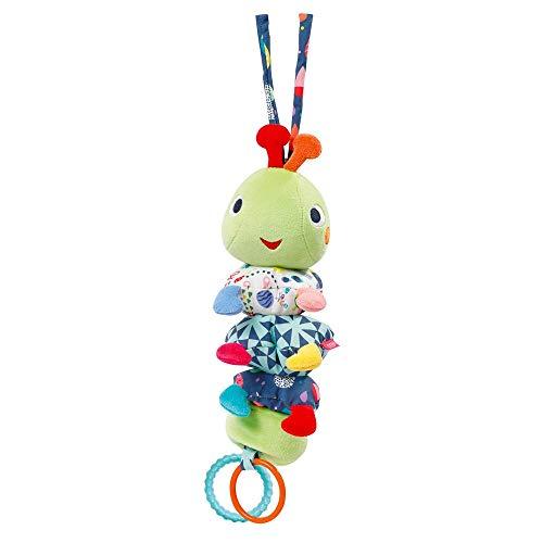 Fehn 055122 Spieluhr Raupe COLOR Friends – Kuschelige Babyspieluhr mit integriertem & waschbarem Spieluhr-Aufzug – Melodie: Brahms Wiegenlied – Für Babys ab 0 Monaten – Größe: 24 cm