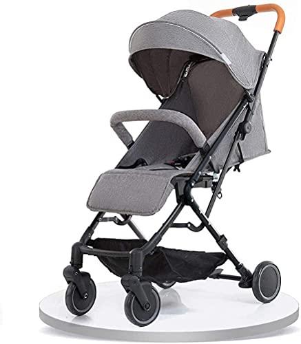 Kinderwagen, klein und praktisch, faltbar, tragbar, mit Tragegriff, Baby-Kinderwagen, Regenschirm-Kinderwagen (Farbe: Grau)