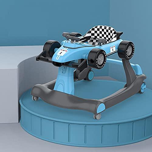 F1 Auto Lauflernhilfe Faltbar Abnehmbarer Multifunktions Lauflernhilfe Höhenverstellbar 2 in 1 Baby Activity Lauflernhilfe