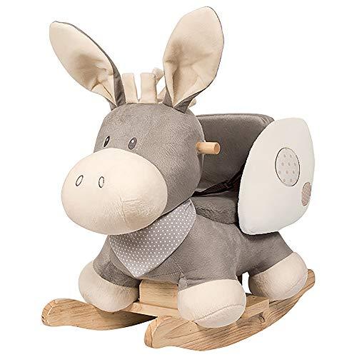 Schaukeltier Esel mit breiter Rückenlehne