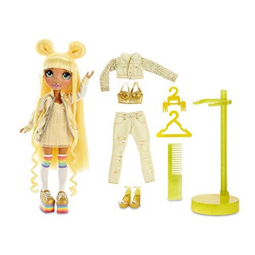 Rainbow High Fashion Doll – Sunny Madison - Gelbe Puppe mit Luxus-Outfits, Accessoires und Puppenständer - Rainbow High Series 1 - Perfektes Geschenk für Mädchen ab 6 Jahren