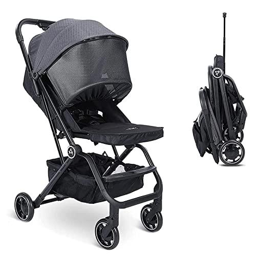 Wheelive Leichter Kinderwagen, Easy-Fold mit einer Hand Kompakter Reisekinderwagen mit verstellbarer Rückenlehne & Aufbewahrungskorb, Sleep Shade - Kinderwagen für Flugreisen und meh