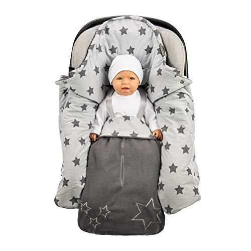 Lilly and Ben® Einschlagdecke für die Übergangszeit I OEKO-TEX Decke aus Baumwolle & Fleece I Erstausstattung für Kinderwagen & alle Gurtsysteme I Sicherer Pucksack für Babys 0-10 Monate