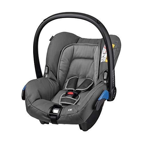 Maxi-Cosi Citi Babyschale, federleichter Gruppe 0+ Autositz (0-13 kg), nutzbar ab der Geburt bis ca. 12 Monate, concrete grey, grau