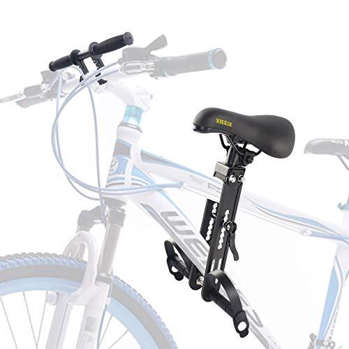 XIEEIX Kinderfahrradsitz Für Mountainbikes,mit Lenker Front Fahrradsitz , Tragbarer Abnehmbarer Vorneliegender Fahrradsitz Für Kinder Von 2-5 Jahren,Kompatibel mit allen MTB Mountainbike Kindersitz