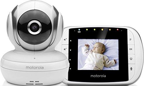 Motorola Baby MBP 33S Video Babyphone , Wireless Baby-Überwachungskamera , Temperatursensor und 300 m Reichweite