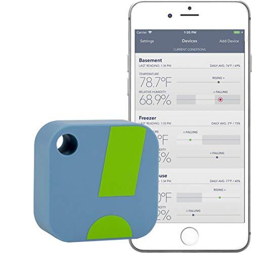 SensorPush – kabelloses Thermometer/Hygrometer für iPhone/Android. Smarter Temperatur- u. Feuchtigkeitssensor mit Alarmfunktion. App auch auf Deutsch erhältlich!