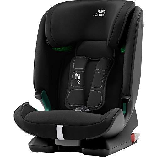 BRITAX RÖMER Kindersitz 9-36 kg ADVANSAFIX M i-SIZE, 5-Punkt-Gurt mit ISOFIX für Kinder von 76 - 150 cm (i-Size), 15 Monate bis 12 Jahre, Cosmos Black